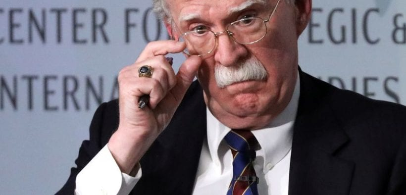 John Bolton is pictured.